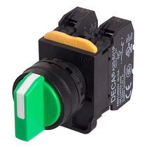 Interruptor con botón selector / multipolar / electromecánico