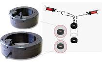 Tuerca hidráulica para rodamiento / para racor con anillo / metal
