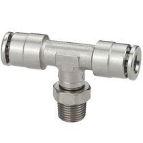 Racor push-in / bloqueable por presión / en T / neumático