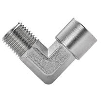 Racor de rosca / de ángulo recto / hidráulico / neumático