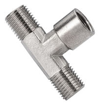 Racor de rosca / en T / hidráulico / neumático
