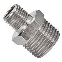 Racor de rosca / recto / hidráulico / neumático