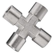 Racor de rosca / en cruz / hidráulico / neumático