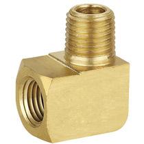 Racor de rosca / bloqueable por presión / de ángulo recto / hidráulico
