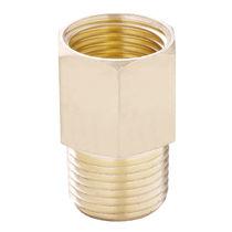 Racor de rosca / recto / para aire comprimido / de latón