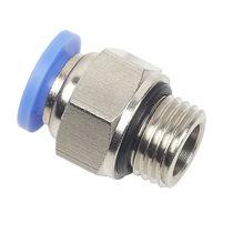 Racor push-in / recto / neumático / con junta tórica