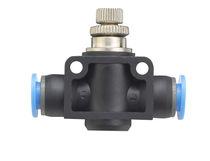 Válvula con control neumático / de control de caudal / para aire / en línea