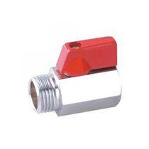 Válvula de bola / con control neumático / para gas / en miniatura