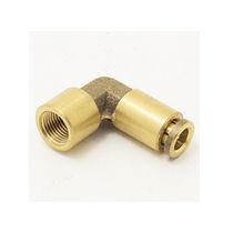 Racor push-in / de ángulo recto / neumático / de latón