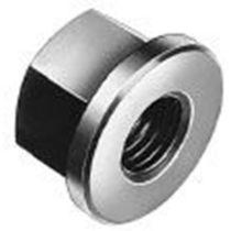 Tuerca hexagonal / con collar / de acero al carbono