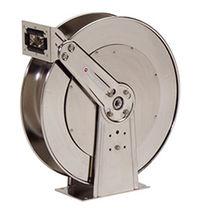 Enrollador de tubo / retráctil / con doble pedestal / con barra de soporte