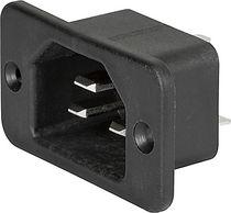Conector de alimentación eléctrica / DIN / cuadrado / de tornillo