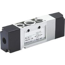 Distribuidor hidráulico de cajón / con control neumático / de 5/3 vías