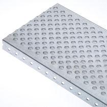 Reja metal / de chapa / para espacio húmedo / antideslizante