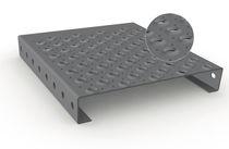 Reja de acero galvanizado / aluminio / de chapa / antideslizante