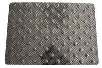 Alfombra de aluminio / podotáctil / con relieve de diamante