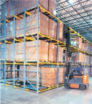 Sistema de estanterías push-back / para carga pesada / para cajas / de gran altura