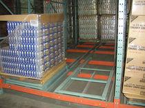 Sistema de estanterías push-back / depósito de almacenamiento / dinámico