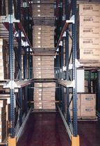 Sistema de estanterías depósito de almacenamiento / para carga pesada / para cajas / estantería abierta por ambos lados