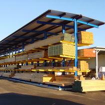 Sistema de estanterías depósito de almacenamiento / cantilever / para carga pesada / para carga alargada