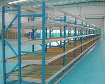 Sistema de estanterías depósito de almacenamiento / para carga mediana / dinámico / de acero