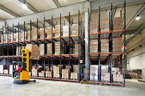 Sistema de estanterías depósito de almacenamiento / para carga pesada / para cajas / dinámico