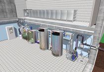 Microplanta para tratamiento de aguas residuales biológica