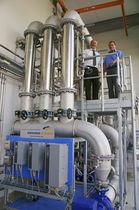 Unidad de ultrafiltración de membrana / para agua