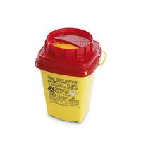 Contenedor de basura de plástico / para desperdicios médicos / con tapa