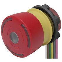Botón pulsador de seta / 2 polos / con luz / redondo