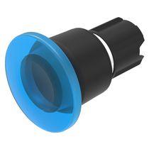 Botón pulsador con cabeza fungiforme / unipolar / con luz / redondo