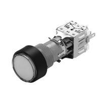 Botón pulsador 2 polos / con luz / de corte / redondo