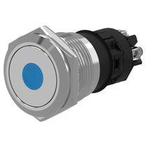 Botón pulsador unipolar / con luz / de acero inoxidable / de corte