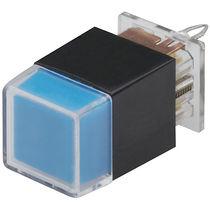 Botón pulsador de muelle / unipolar / con luz / acción momentánea