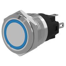 Botón pulsador unipolar / con luz / de aluminio / de corte