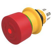 Interruptor con cabeza fungiforme / 2 polos / compacto / de parada de emergencia
