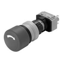 Interruptor con cabeza fungiforme / unipolar / redondo / IP65