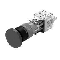 Botón pulsador de seta / multipolar / con luz / de corte