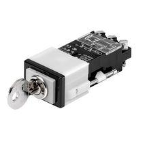 Interruptor de llave / 2 polos / de corte / para actuador