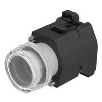 Botón pulsador de muelle / unipolar / con luz / electromecánico