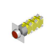 Botón pulsador multipolar / acción momentánea / redondo / IP67