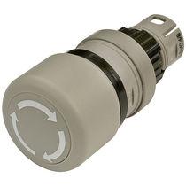 Botón pulsador de seta / unipolar / de parada de emergencia / electromecánico