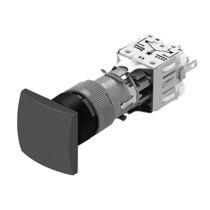 Botón pulsador de seta / multipolar / rectangular / sin protección