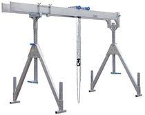 Pórtico para taller / de aluminio / de riel doble / para grandes cargas