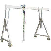 Pórtico con ruedas / de aluminio / monorriel / para taller