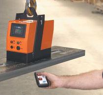 Electroimán de levantamiento / para chapas / con batería / compacto