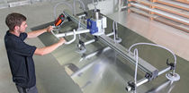 Elevador de ventosas para chapas / para losas de piedra / para barril / horizontal