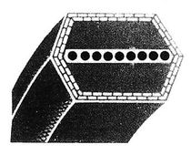 Correa de transmisión hexagonal