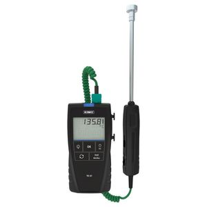 termómetro de termopar / digital / portátil / de máx. mín.