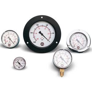 manómetro de esfera / de tubo Bourdon / de proceso